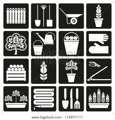 Gardening. Iicons Set