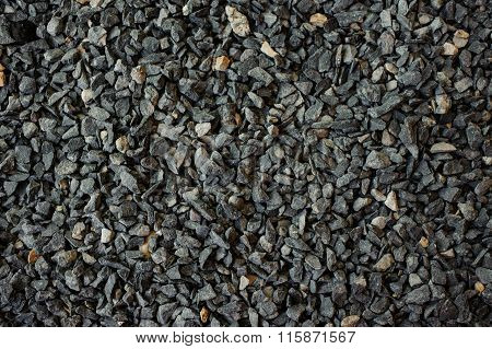 Crushed Dark Gravel Texture Horizontal