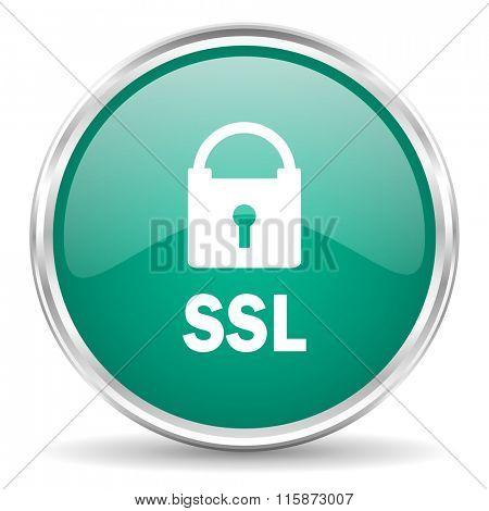 ssl blue glossy circle web icon