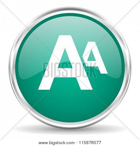 alphabet blue glossy circle web icon