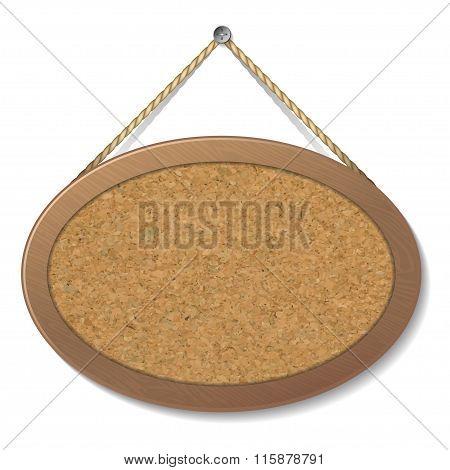 Blank Cork Board. Vector Illustration