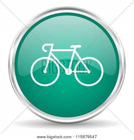 bicycle blue glossy circle web icon