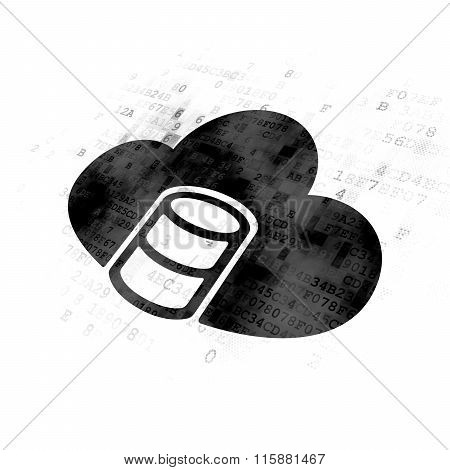 Database concept: Database With Cloud on Digital background