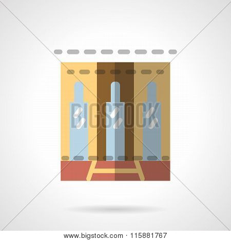 Storefronts flat vector icon. Business center