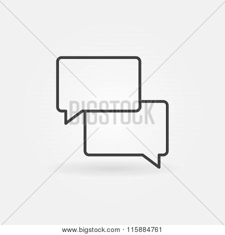 Two message clouds icon