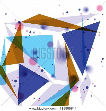 Colorful op art design backdrop abstract futuristic stylish blur background with smudge spots and po