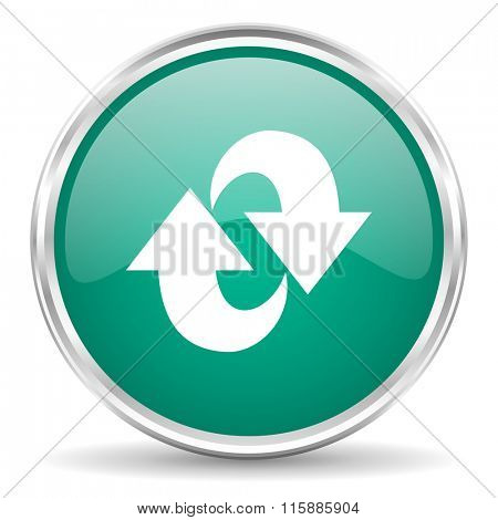 rotation blue glossy circle web icon