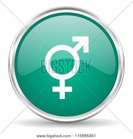 sex blue glossy circle web icon