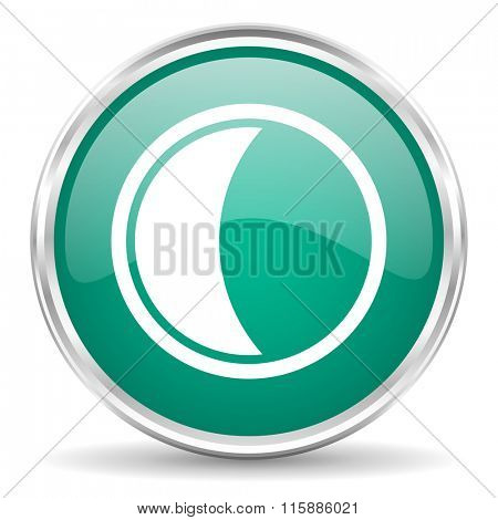 moon blue glossy circle web icon