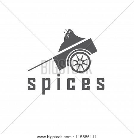 Heap Of Spices In A Dray