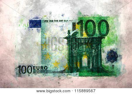 100 euro impressionism painting