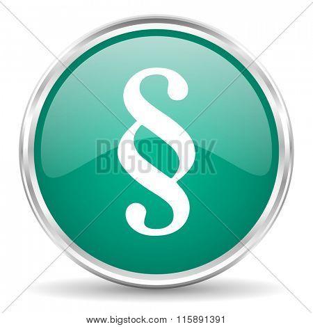 paragraph blue glossy circle web icon