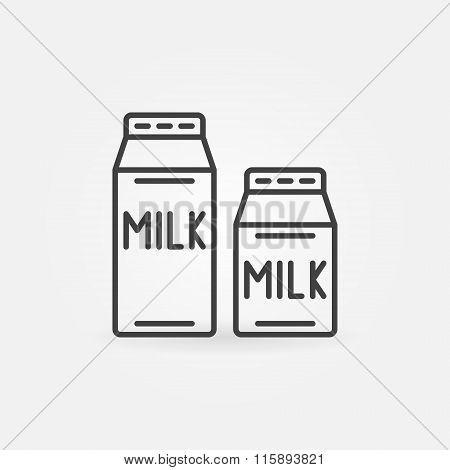 Milk thin line icon