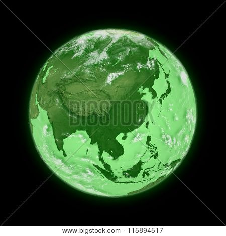 Southeast Asia On Green Planet Earth