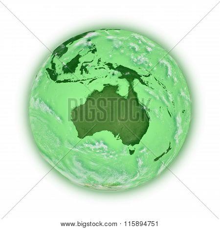 Australia On Green Planet Earth