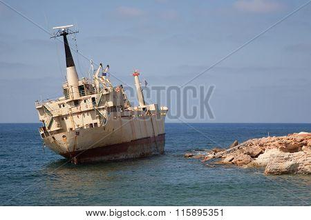 Cyprus Island Sea Coast ship wreck