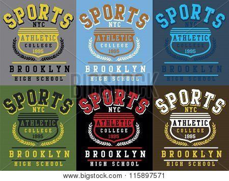 Vector Sports Print Set