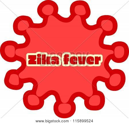 Abstract Virus Image And Zika Fever Text
