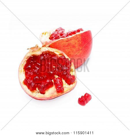 fancy pomegranate with gummy bears