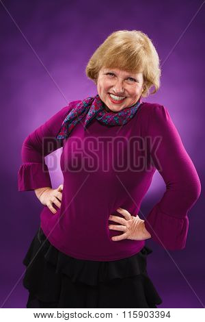 Old age woman laughing