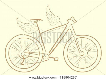 Winged sports bicycle