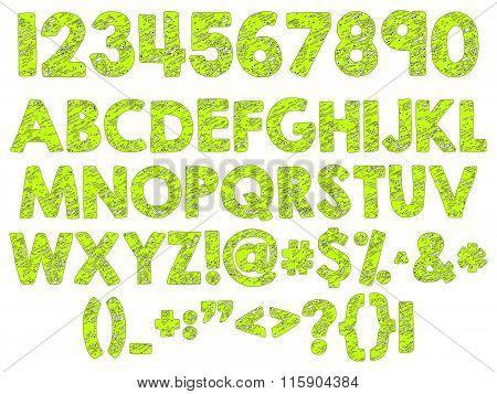 Craquelure Alphabet