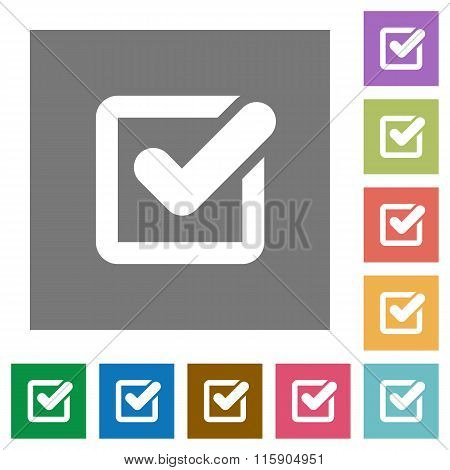 Checkbox Square Flat Icons