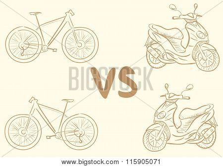 Bicycle vs scooter