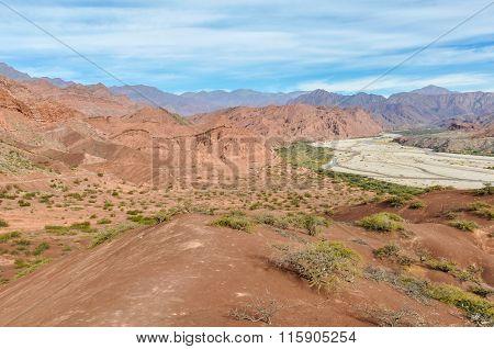 The Valley In The Quebrada De Las Conchas, Argentina