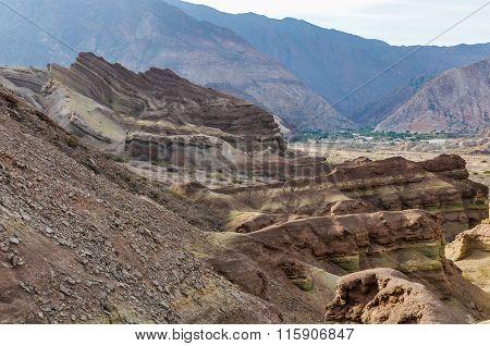 Rock Formations In The Quebrada De Las Conchas, Argentina