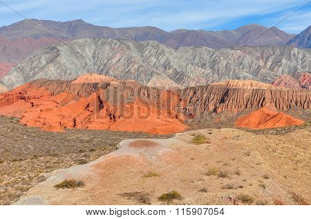 Panoramic View In The Quebrada De Las Conchas, Argentina