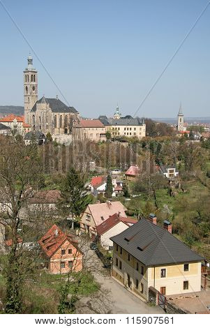 Kutna Hora, Czech Republic - April 17, 2010: View Of The Church Of St. James (st. Jacob Church) In K