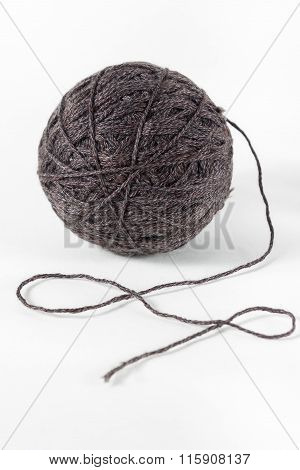 Yarn of wool isolated on white background
