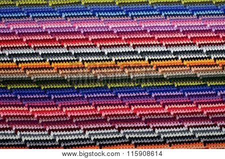Colourful Knit Background Macro