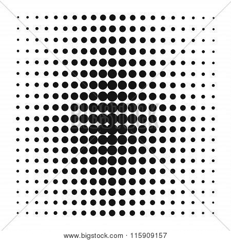 Pop Art style vector black dots or background element