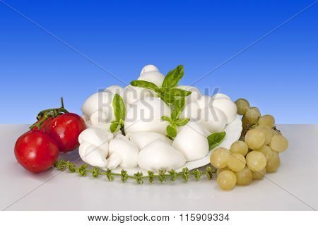 Italian Food Fior Di Latte Of Mozzarella Of Buffalo