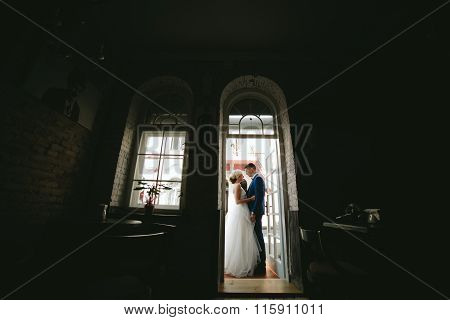 bride and groom in wedding day
