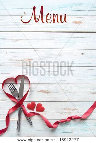 Valentine Menu Background