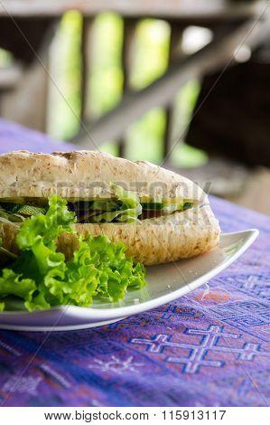 Vegetable Baguette Sandwish