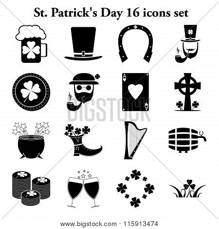 St. Patrick's Day 16 Simple Icons Set