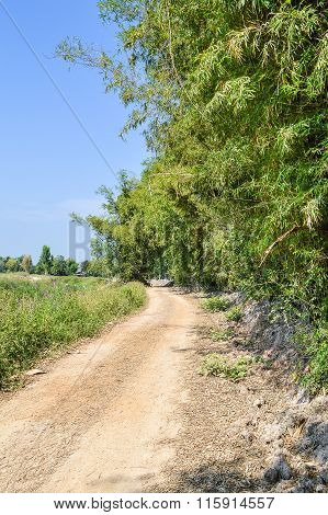 Rural road in country Thailand
