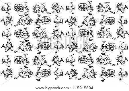 Vector Sketch Of Fast-response Fishing Reels