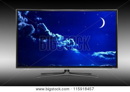 4k monitor isolated on black