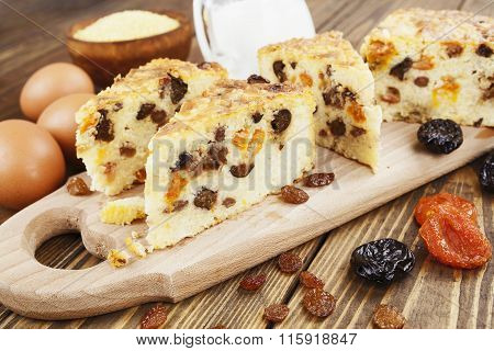 Casserole With And Dried Fruits