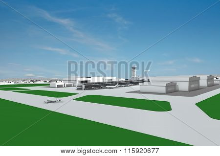 Airfield Airplanes View