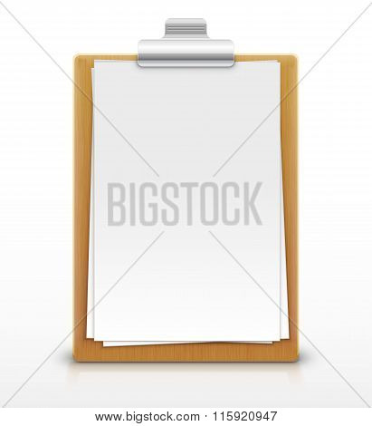 clipboard with empty sheet of paper