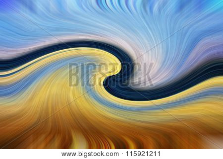 Blue And Yellow Spectrum Abstract Background
