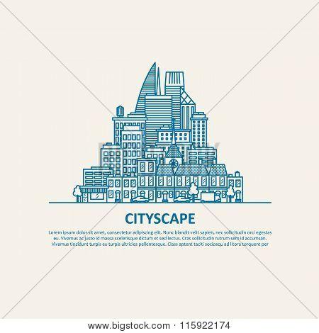City scape thin flat eps 10