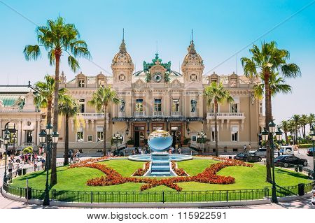 Grand casino in Monte Carlo in Monaco.