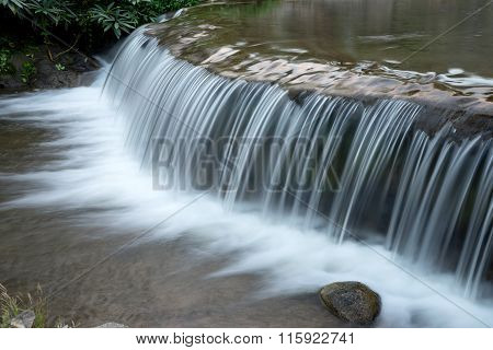 White Waterfall From Small River